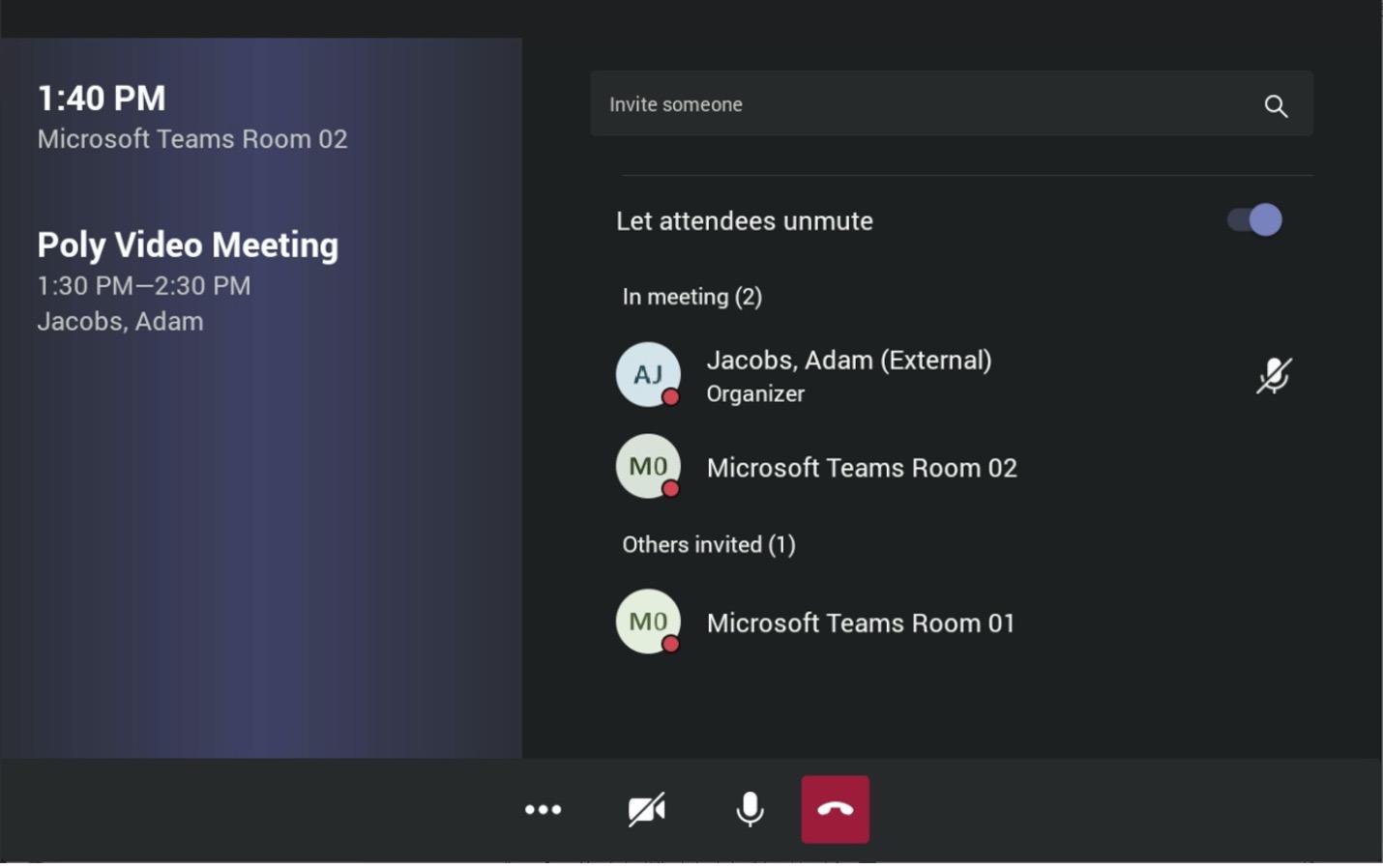new Microsoft Teams UI on the Poly TC8
