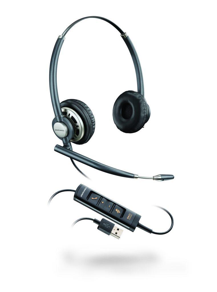 EncorePro HW725-USB binaural, noise-canceling headset