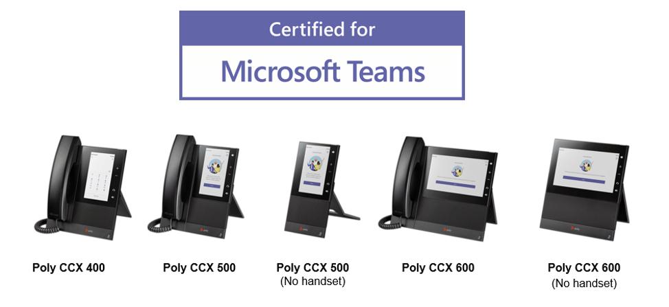 Poly CCX phones microsoft teams